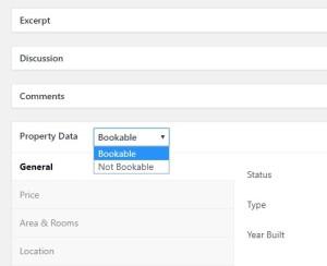 property data in booking platform