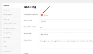 enable booking mode
