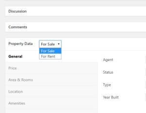 Property data in property platform