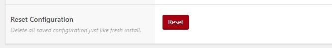 reset configuration plugin ongkir